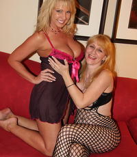 Two blondes get gangbanged. Alysha and Kay get make love by 7 guys