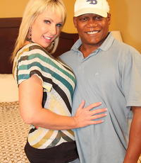 Interracial fun with alysha. Alysha has some fun with charming big black penish