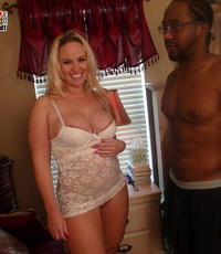 Dark meat tonight. Smokin hot blonde gets a beautiful massive have sexual intercourse from a large black cock.