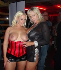 Fun at the club. Mrs. Siren and Naughty Alysha have some fun