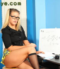 School girls do it best. Roxy looks so lascivious as a hot school girl.