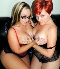Fun with friends. Dee and her redheaded GF love to make love together.