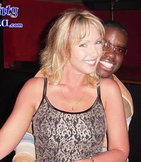 Riding it heavy. White bitch gets her holes filled by a hung black guy