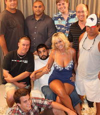 A gangbang weekend. Bitch gets gangbanged by eight guys